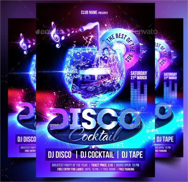 Disco Cocktail Party Flyer