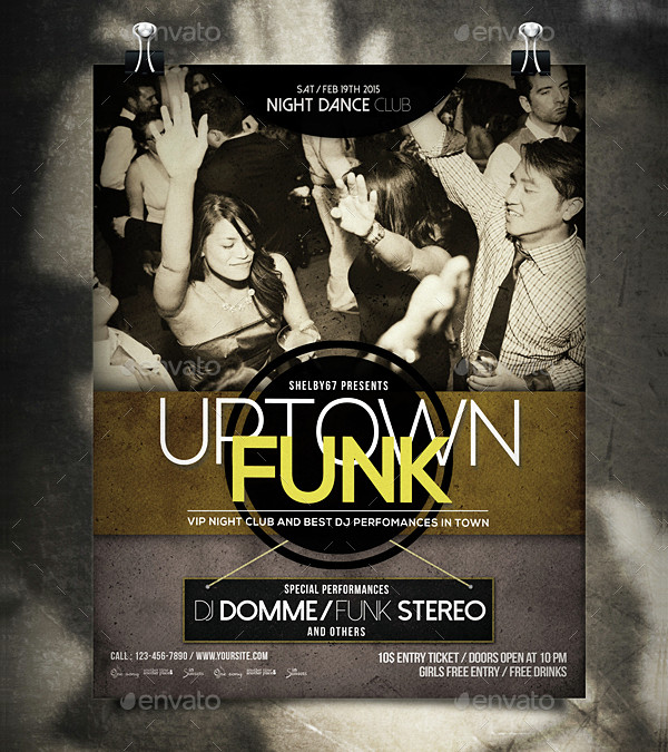 Disco Funk Flyer or Poster