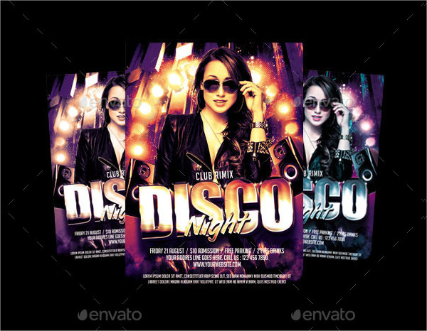 Attractive Disco Night Flyer Templates