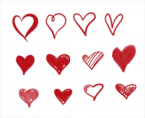 Doodle Love Icons Free Download