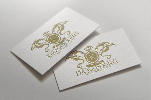 Dragon King Club Logo Template