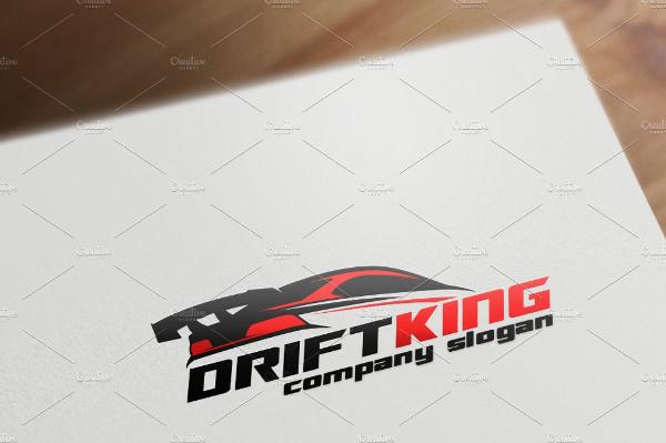 Drift King Logo Template