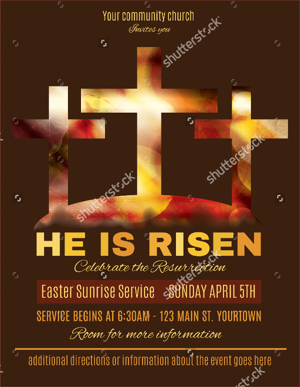 Easter Sunrise Service Flyer Template