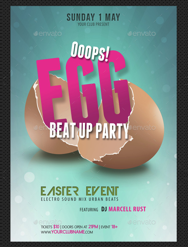 PSD Easter Event Poster Template