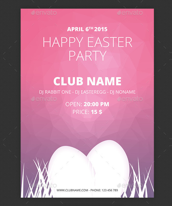 A3 Easter Party Poster Template
