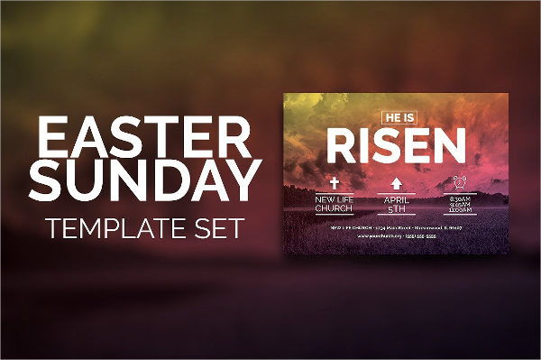 Easter Sunday Church Template Set