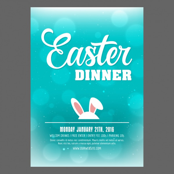 Easter Party Poster DesignFree Download