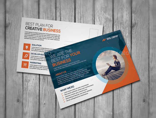 Easy To Customize Business Postcards