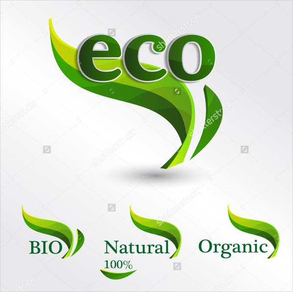 Set of Eco Logos Design