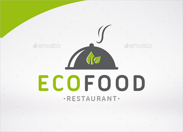 Eco Restaurant Logo Template