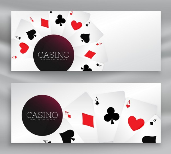 Editable Casino Banners Free Vector