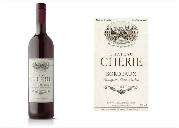 Custom Wine Label Template