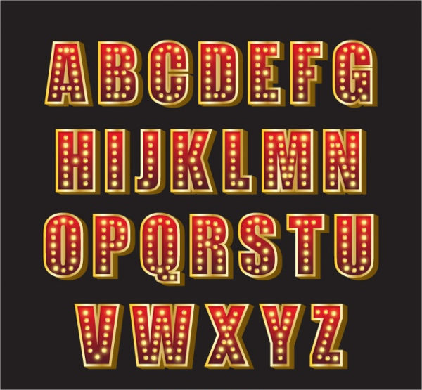 Neon Alphabet Upper Case Letter Free Download