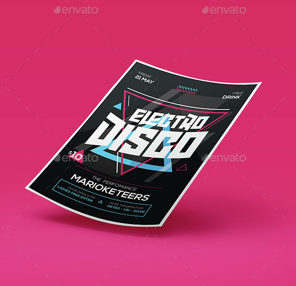 Electro Disco Flyer Design