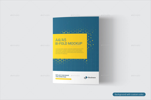 Elegant Bifold Brochure Mockup
