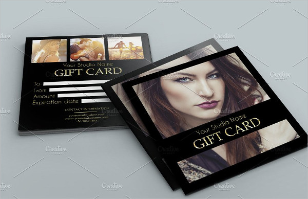 Elegant Photography Business Gift Card Template
