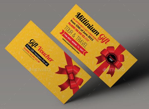 Customizable Business Gift Voucher Design
