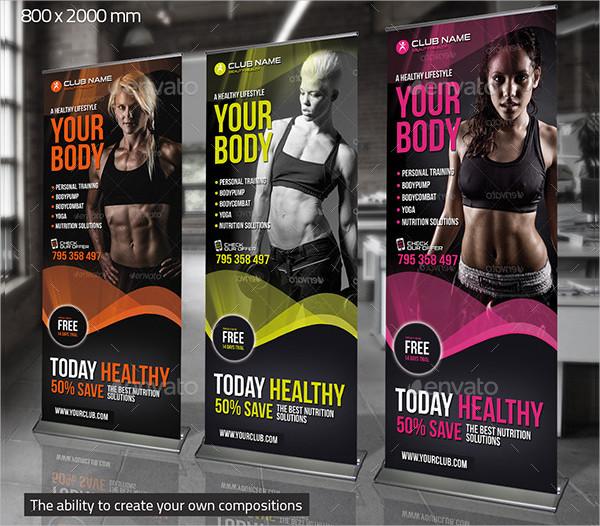 Elegant Fitness Banner Template