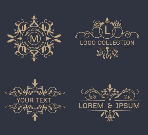 Pack of Elegant Ornamental Logos Free