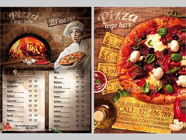 Elegant Pizza Flyers Bundle
