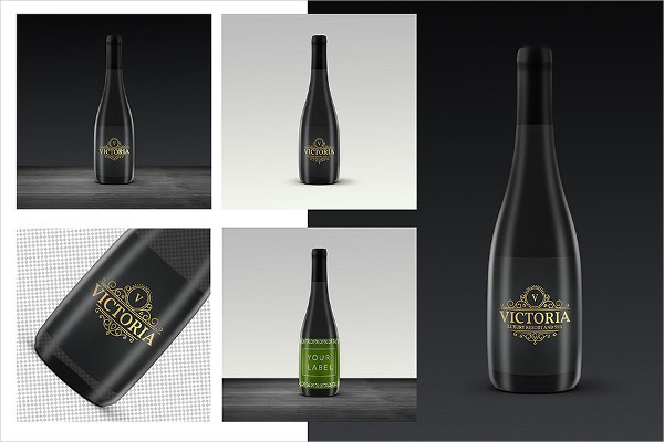 Elegant Wine Label Template PSD