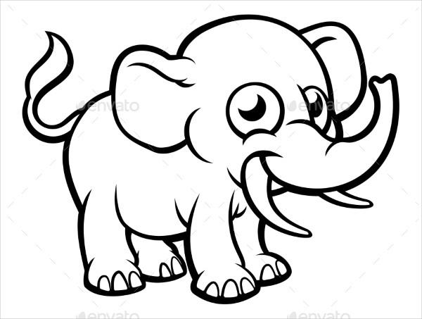 Elephant Cartoon Drawing