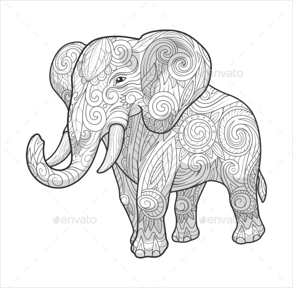Elephant Sketches Drawings