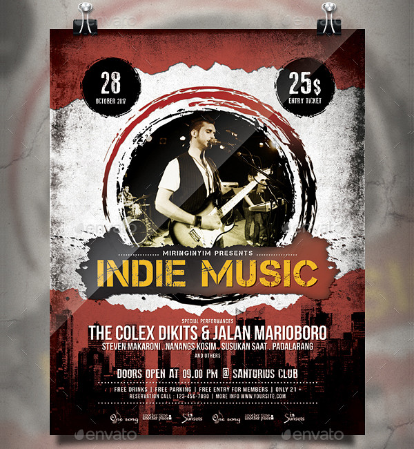 Indie Music Flyer or Poster Template