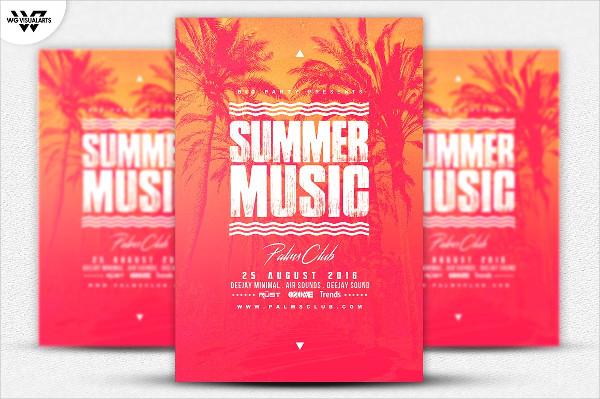Excellent Summer Music Flyer Template