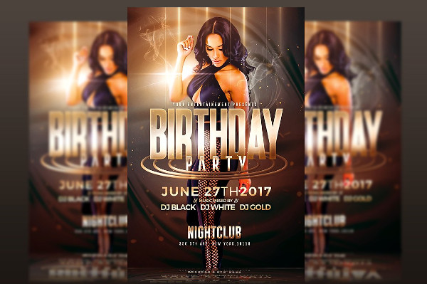 Exclusive Birthday Party Club Flyer Template