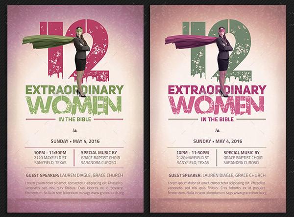 Extraordinary Women Flyer Plus Poster Template