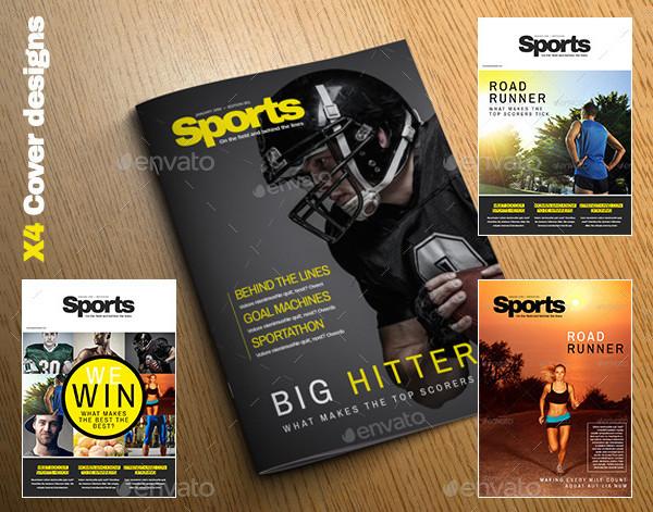 23 sports magazine templates free premium download. Black Bedroom Furniture Sets. Home Design Ideas
