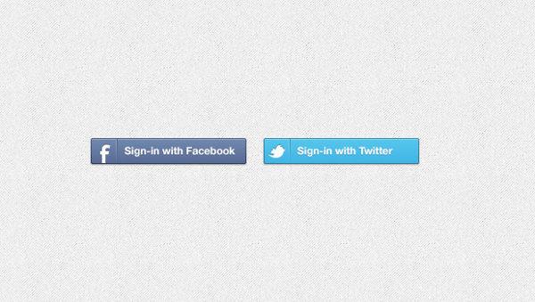 Facebook Login & Logout Buttons PSD Free Download