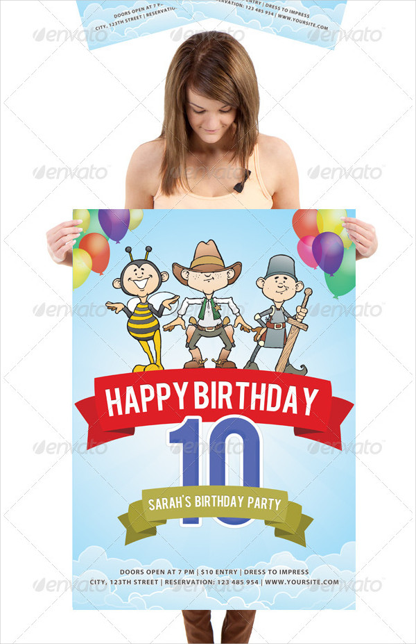 Fancy Birthday Poster Design