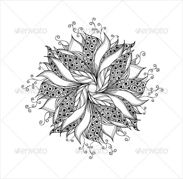 Fantasy Flower Tattoo Pattern