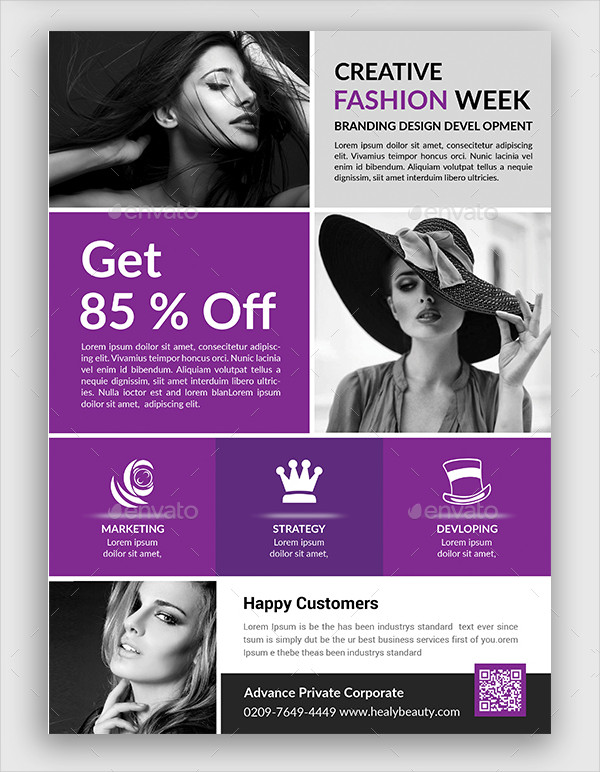 Fashion Show Auditions Flyer Template