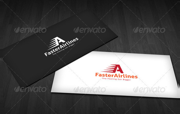 Faster Airline Logo Template