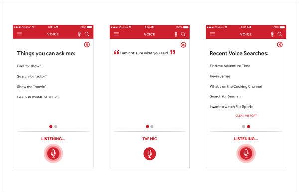 Fios Voice App Designs