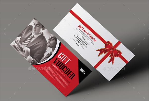 Cool Business Gift Card & Voucher Template