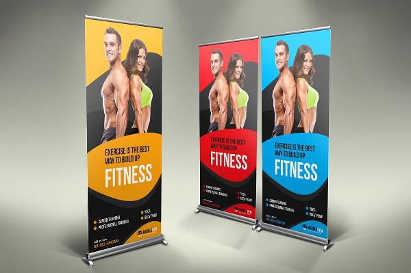 Fitness Roll-Up Banner Design