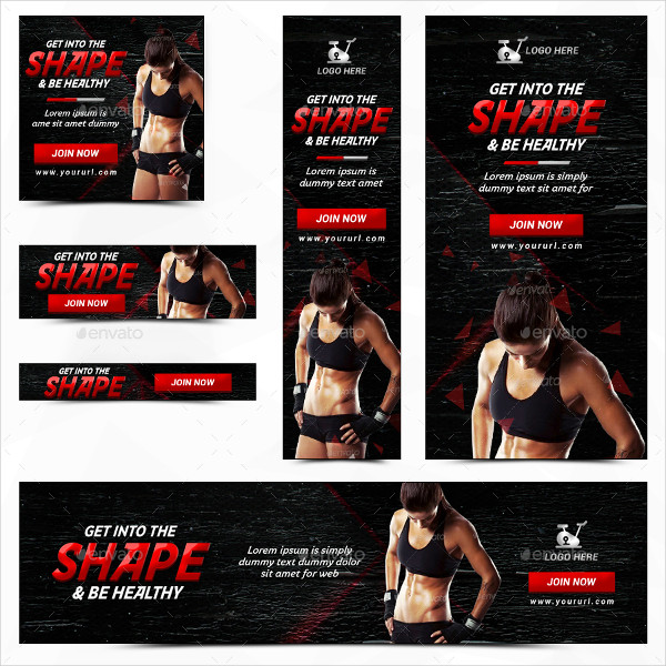 Fitness & Sports Banners Bundle