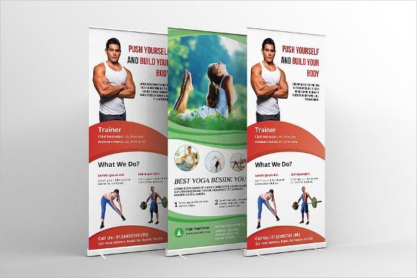 Fitness & Yoga Center Banner Templates