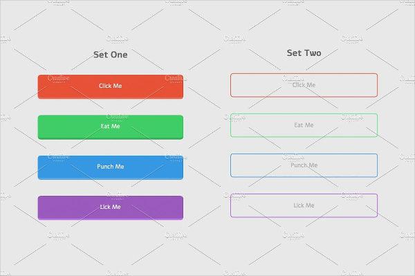 Flat Design Buttons CSS