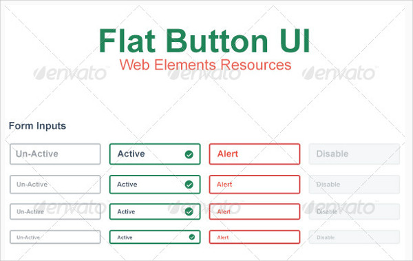Flat Web Button UI