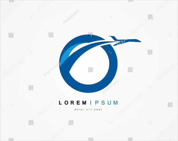 Flight Plane Logo Template