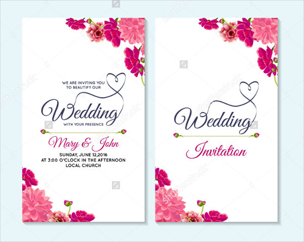 Floral Wedding Invitation & Thank You Card