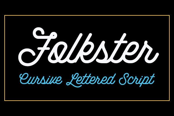 Folkster Cursive Script Font