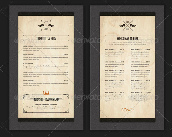 Elegant Design Food Stationery