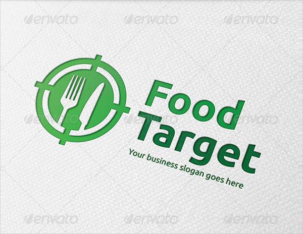 Food Target Logo Template