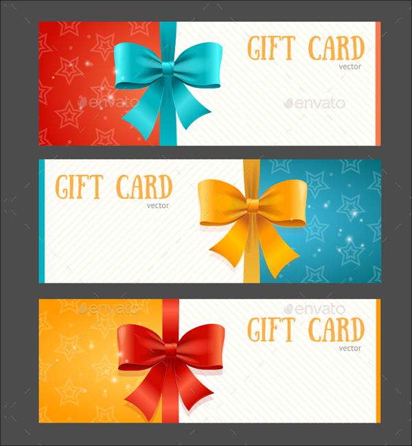 Gift Card Templates Set for Birthday